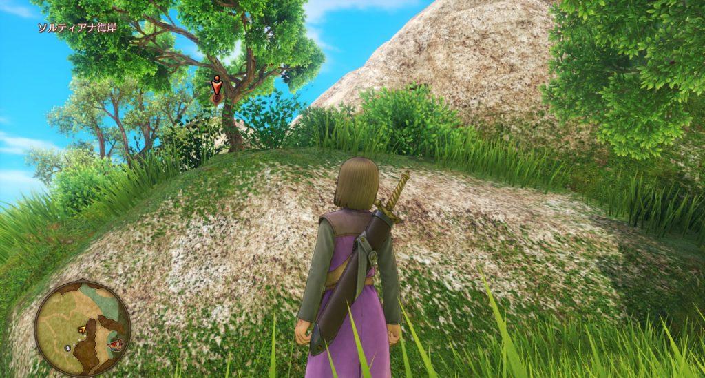 ドラゴンクエスト11のミニゲーム『ボウガンアドベンチャー』の『ソルティアナ海岸』のマト①です。