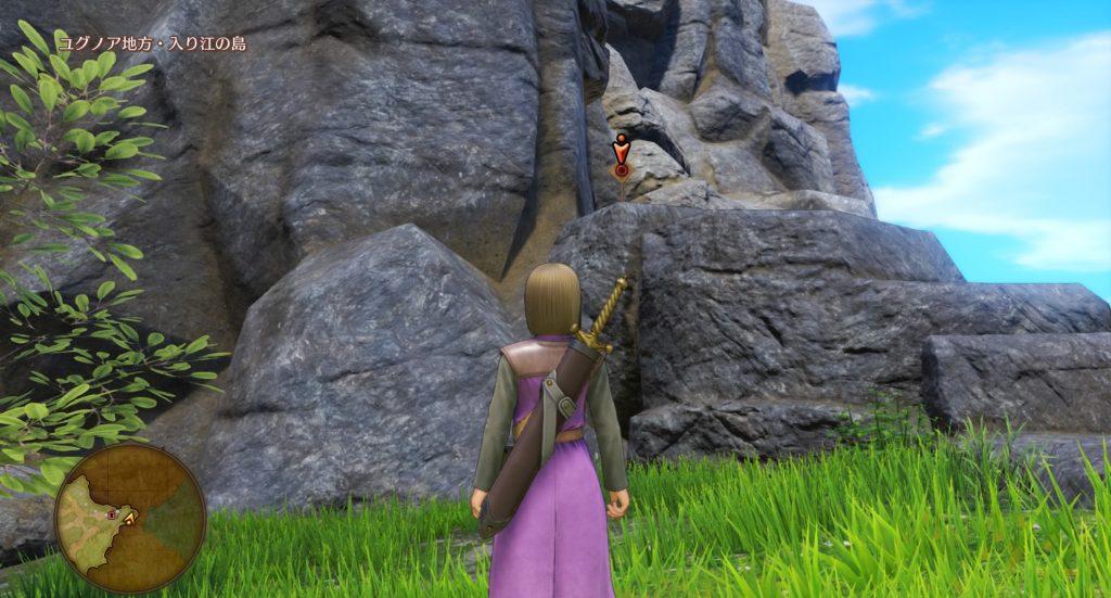 ドラゴンクエスト11のミニゲーム『ボウガンアドベンチャー』の『ユグノア地方・入り江の島』のマトです。