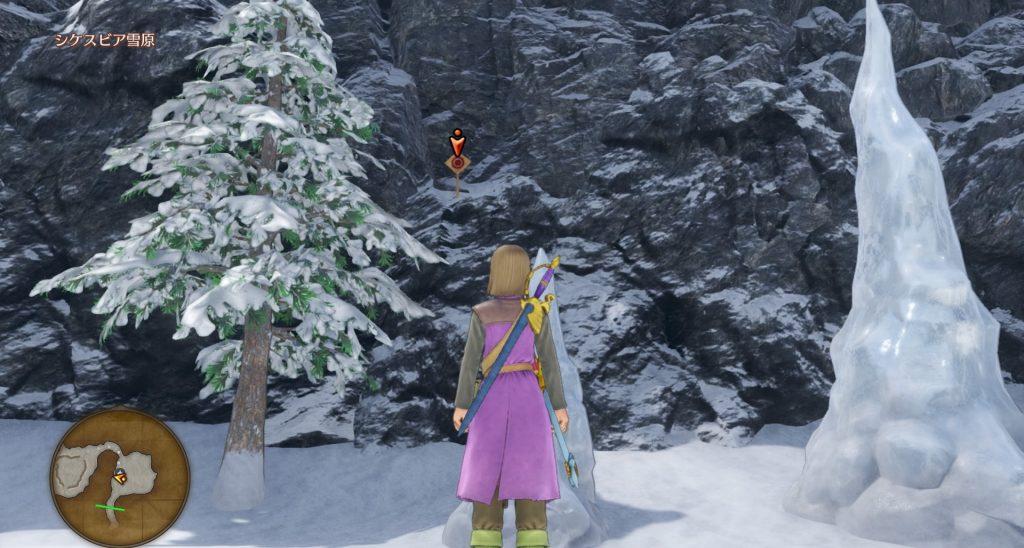 ドラゴンクエスト11のミニゲーム『ボウガンアドベンチャー』の『シケスビア雪原』のマト⑤です。