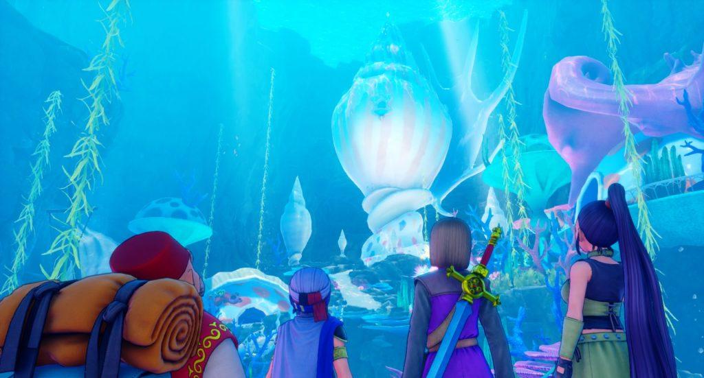 ドラゴンクエスト11の『海底王国ムウレア~怪鳥の幽谷』までのイメージ画像です。