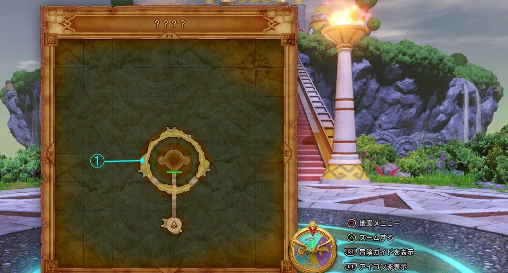 ドラゴンクエスト11の『????』の全体マップです。