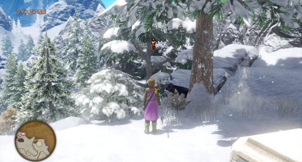 ドラゴンクエスト11のミニゲーム『ボウガンアドベンチャー』の『シケスビア雪原』のマト③です。