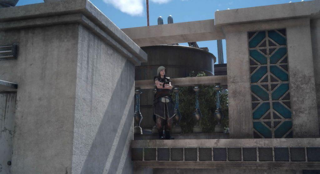 FF15の無料DLC『アサシンズ・フェスティバル』のサブクエスト『アサシンフォトチャレンジ10』のイメージ画像です。