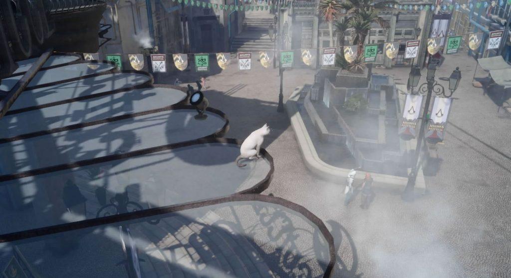 FF15の無料DLC『アサシンズ・フェスティバル』のサブクエスト『アサシンフォトチャレンジ1』のイメージ画像です。