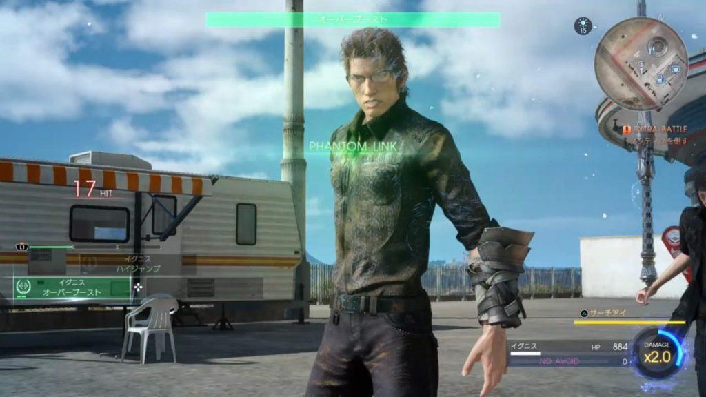 FF15のDLC『エピソードイグニス』のエクストラバトル(中盤)のイメージ画像です。