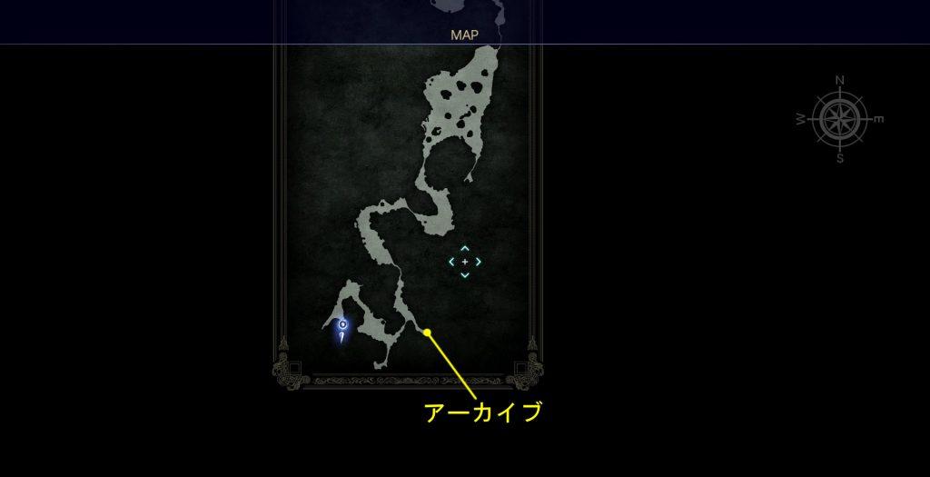 FF15のDLC『FFXVロイヤルパック』にて追加された『アーカイブ』での地域情報(薄霧の森について)イメージ画像です。