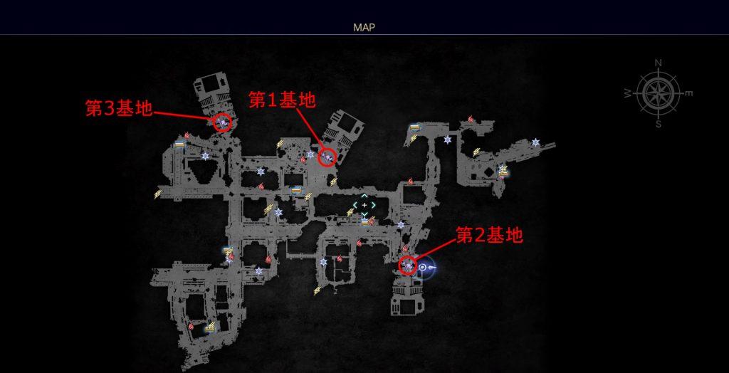 FF15のDLC『FFXVロイヤルパック』にて追加されたサブクエスト『帝国の遺産』の全体マップです。