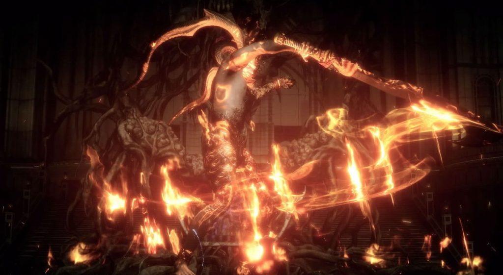 FF15のDLC『FFXVオンライン拡張パック:戦友』のクエスト『炎神への挑戦Ⅱ』のイメージ画像です。