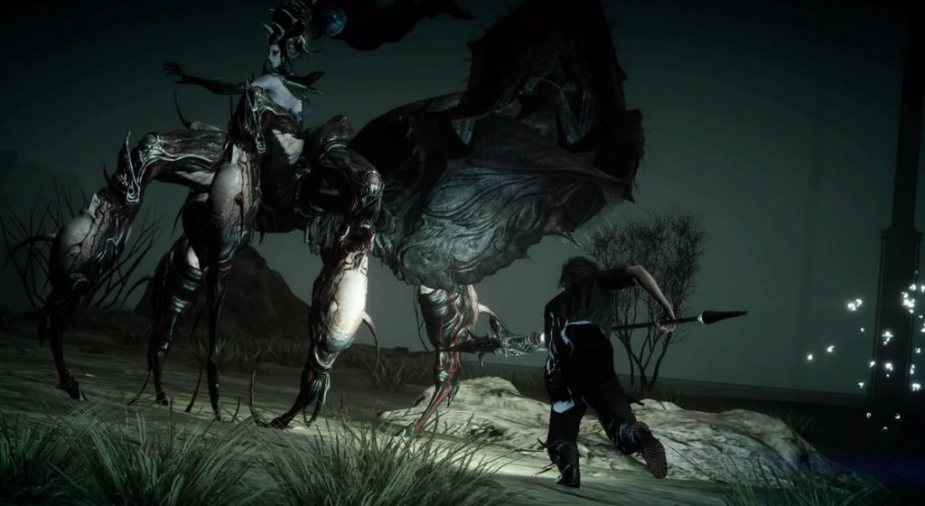 FF15のDLC『FFXVオンライン拡張パック:戦友』の十年後のクエスト『ハンマーヘッドからの旅立ち』のイメージ画像です。