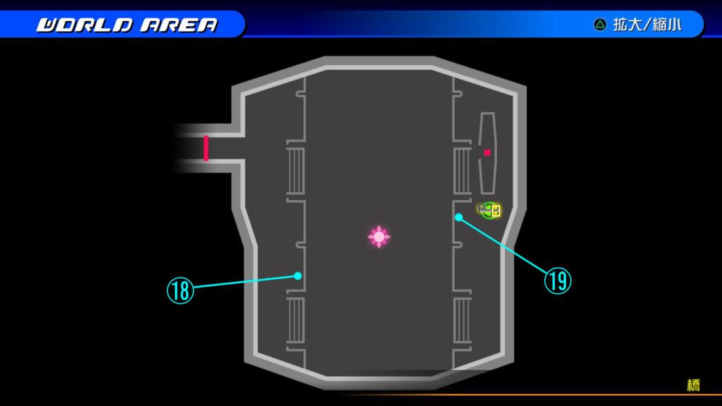 キングダムハーツ3D(HD)のソラ編で開けられる『ザ・グリッド(橋)』の宝箱マップです。
