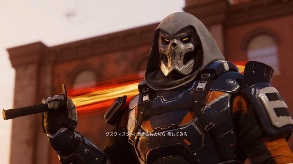 最新作『マーベル スパイダーマン PS4』で戦闘可能なタスクマスターのイメージ画像です。