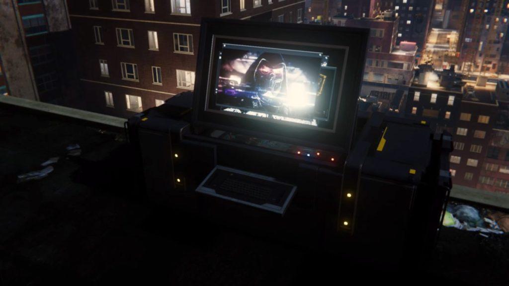 最新作『マーベル スパイダーマン PS4』で受注可能なサイドミッション『タスクマスター』のイメージ画像です。