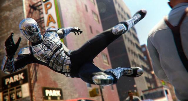 マーベルスパイダーマン(PS4)で配信された『バージョン1.10』のイメージ画像です。