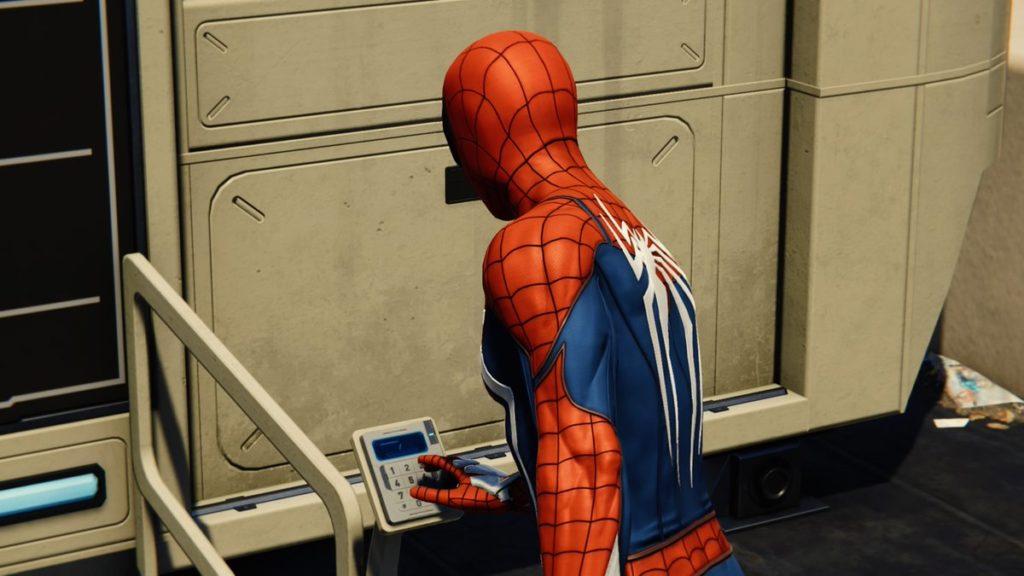 『マーベル スパイダーマン PS4』で受注可能なリサーチステーションのイメージ画像です。