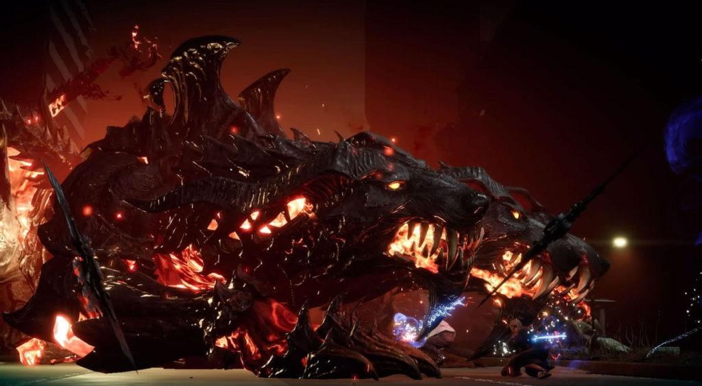 FF15で配信されたスタンドアローン版『戦友』のエクストラクエスト『闇の番犬 ケルベロスへの挑戦』のイメージ画像です。