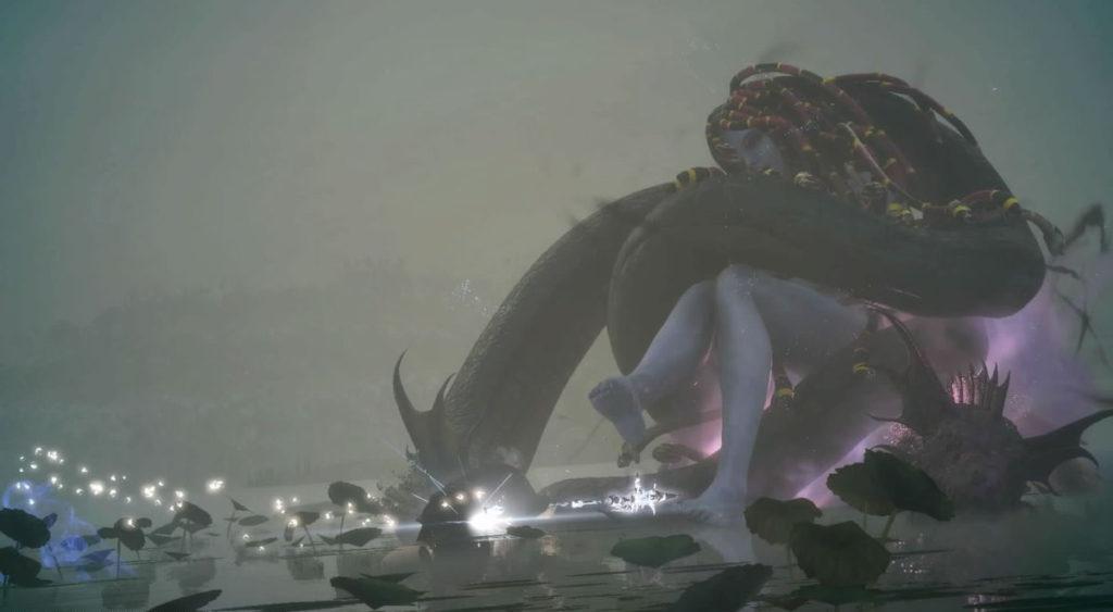 FF15で配信されたスタンドアローン版『戦友』のエクストラクエスト『美しき大蛇 メリュジーヌ』のイメージ画像です。