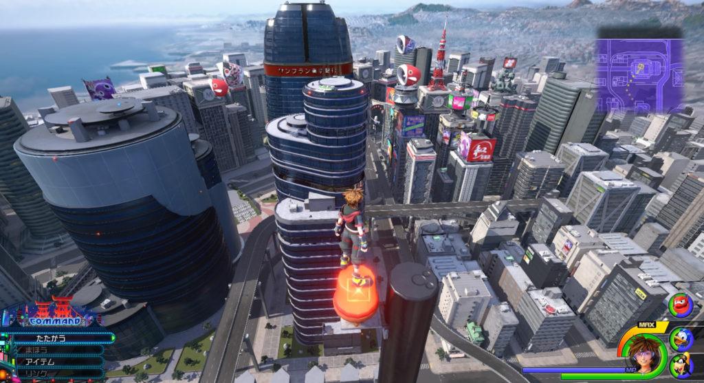 キングダムハーツ3(KH3)のワールド『サンフランソウキョウ』に設置されている幸運のマーク⑪です。