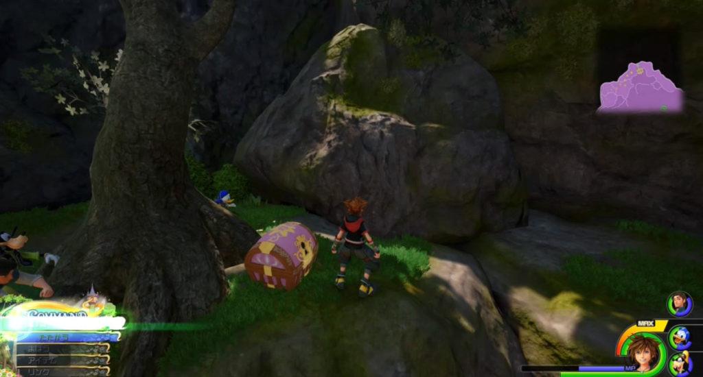 キングダムハーツ3(KH3)のワールド『キングダム・オブ・コロナ』に設置されている宝物リスト(宝箱)のThe Wayward Canaryです。
