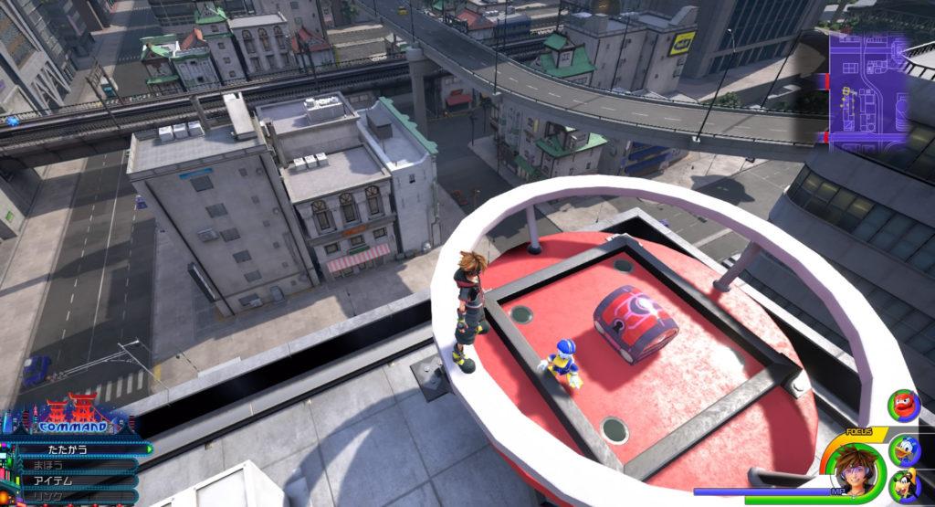 キングダムハーツ3(KH3)のワールド『サンフランソウキョウ』に設置されている宝物リスト(宝箱)のMickey's Mechanical Manです。