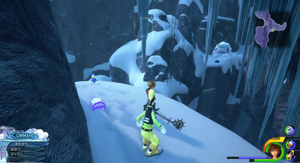キングダムハーツ3(KH3)のワールド『アレンデール』に設置されている宝物リスト(宝箱)のエリクサーです。