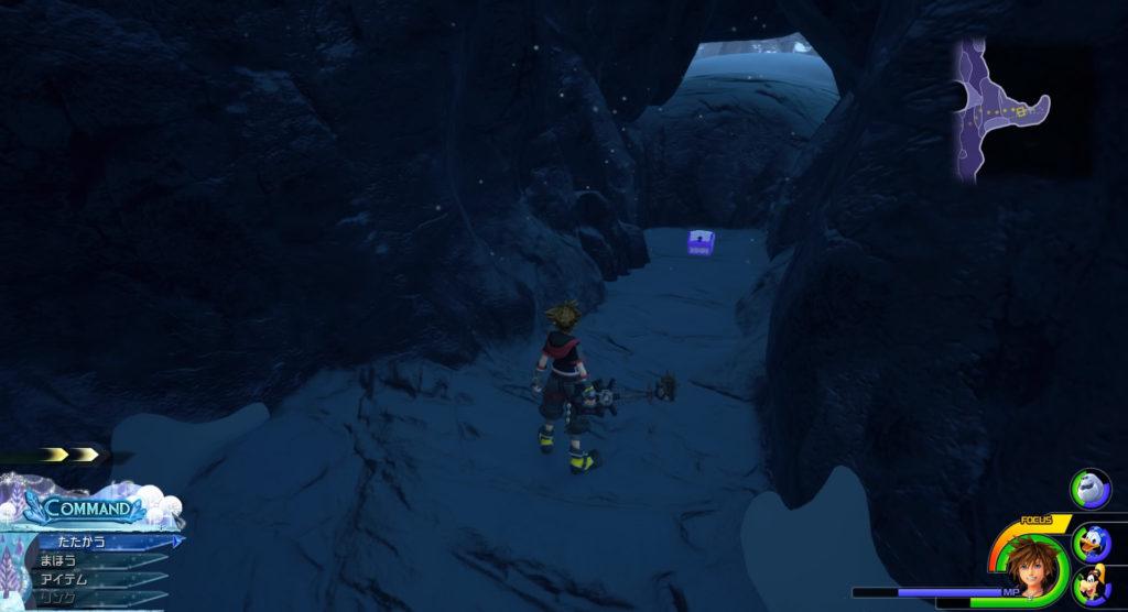 キングダムハーツ3(KH3)のワールド『アレンデール』に設置されている宝物リスト(宝箱)のガーディアンベルトです。