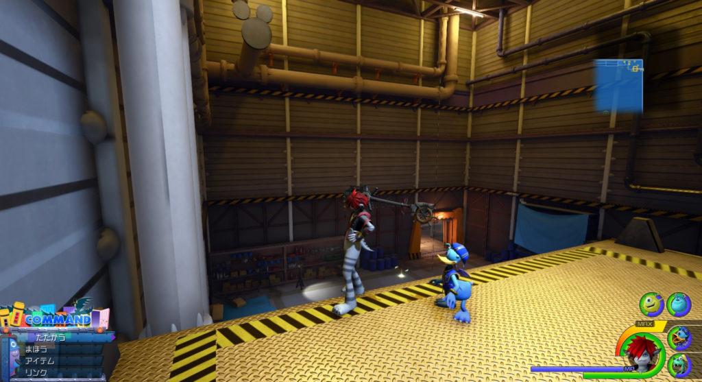 キングダムハーツ3(KH3)のワールド『モンストロポリス』で発見可能な幸運のマーク⑩です。