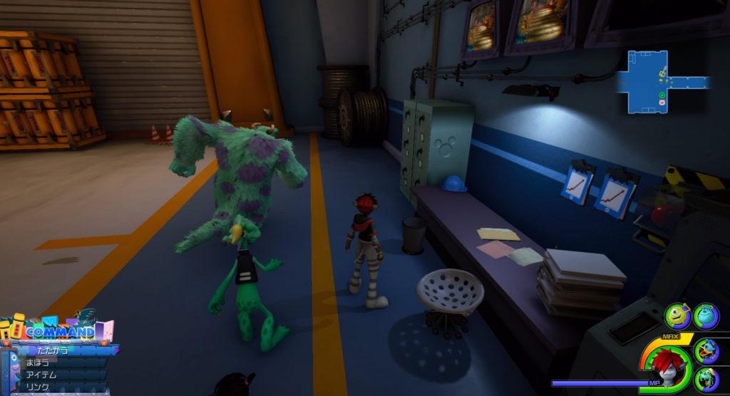 キングダムハーツ3(KH3)のワールド『モンストロポリス』で発見可能な幸運のマーク⑧です。