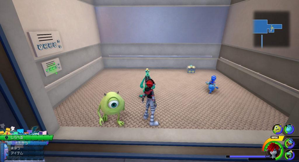 キングダムハーツ3(KH3)のワールド『モンストロポリス』に設置されている宝物リスト(宝箱)のサンダーカフスです。