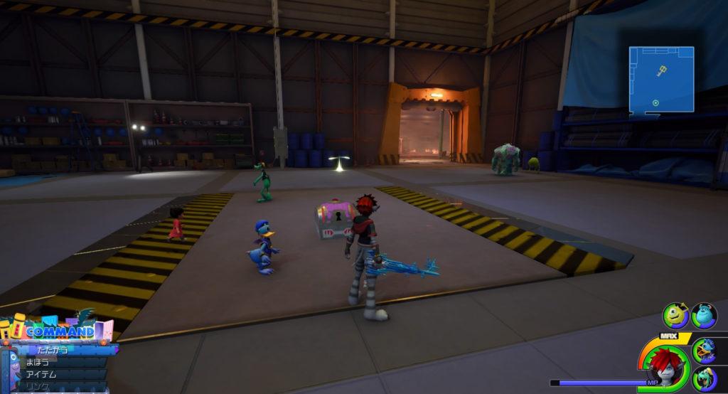 キングダムハーツ3(KH3)のワールド『モンストロポリス』に設置されている宝物リスト(宝箱)のMickey's Circusです。