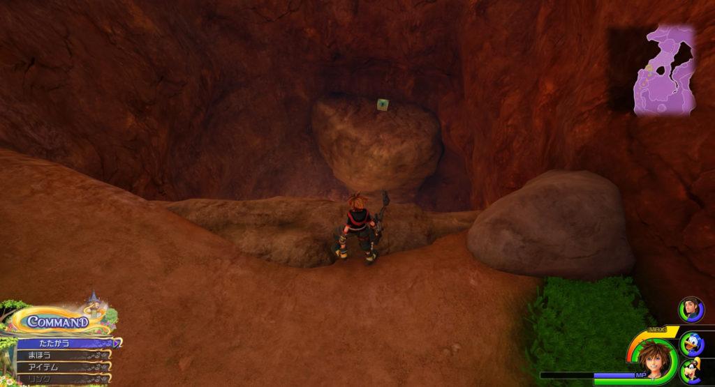 キングダムハーツ3(KH3)のワールド『キングダム・オブ・コロナ』に設置されている宝物リスト(宝箱)のダマスカス①です。