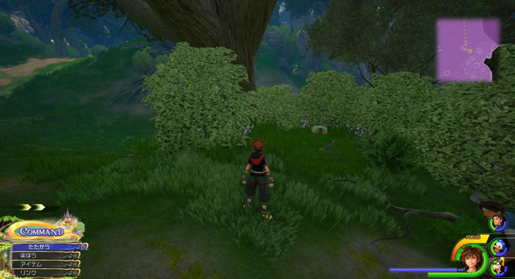 キングダムハーツ3(KH3)のワールド『キングダム・オブ・コロナ』に設置されている宝物リスト(宝箱)のオールキュアです。