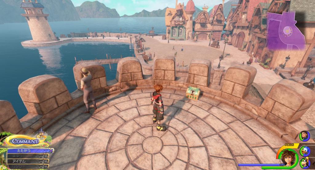 キングダムハーツ3(KH3)のワールド『キングダム・オブ・コロナ』に設置されている宝物リスト(宝箱)のルーンリングです。