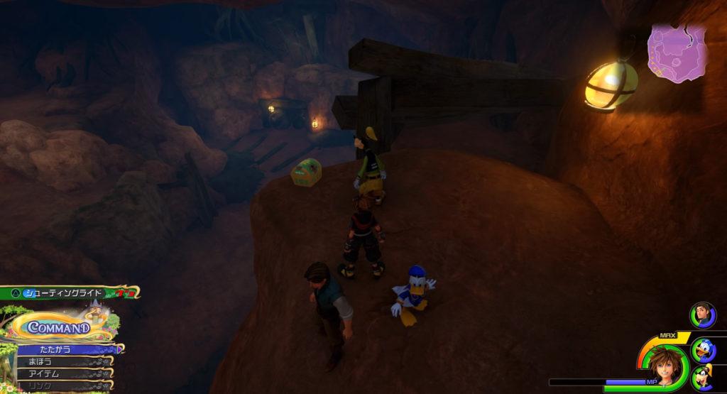キングダムハーツ3(KH3)のワールド『キングダム・オブ・コロナ』に設置されている宝物リスト(宝箱)のミスリルのしずくです。