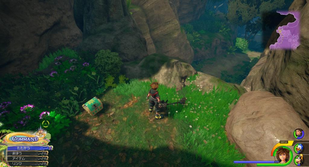 キングダムハーツ3(KH3)のワールド『キングダム・オブ・コロナ』に設置されている宝物リスト(宝箱)のエルフィンバンダナです。