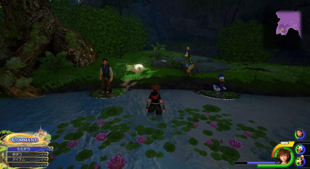 キングダムハーツ3(KH3)のワールド『キングダム・オブ・コロナ』に設置されている宝物リスト(宝箱)のフォーカスリカバーです。