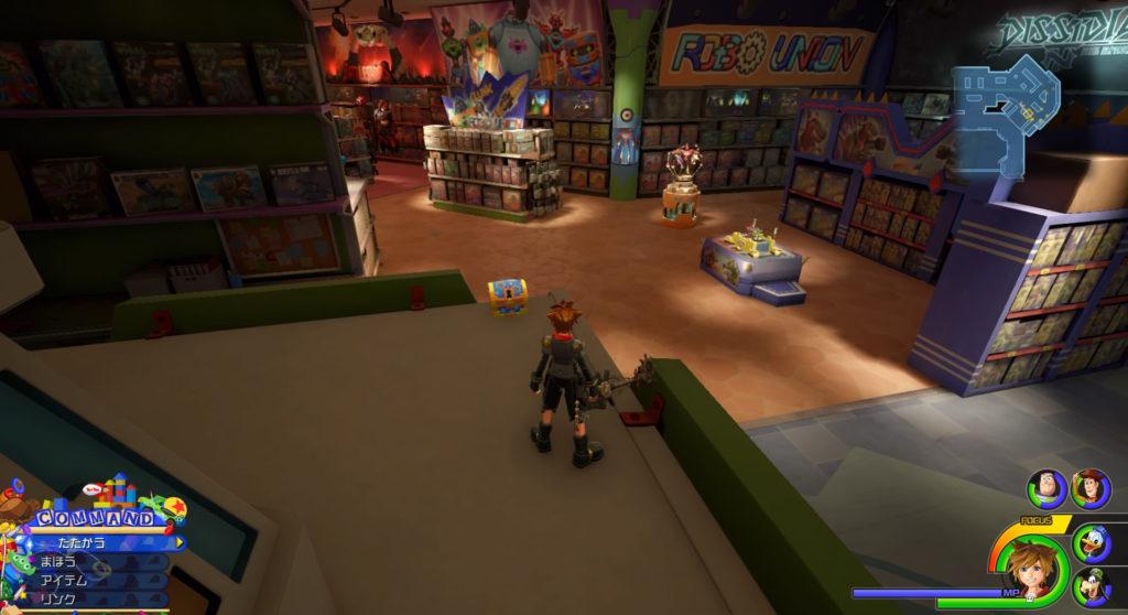 キングダムハーツ3(KH3)のワールド『トイボックス』に設置されている宝物リスト(宝箱)のソルジャーピアスです。