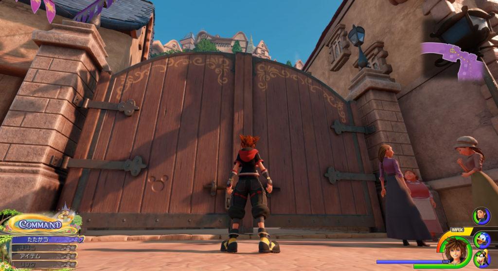 キングダムハーツ3(KH3)のワールド『キングダム・オブ・コロナ(コロナの町)』で発見可能な幸運のマーク⑥です。