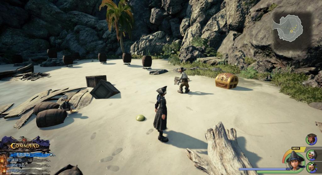 キングダムハーツ3(KH3)のワールド『ザ・カリビアン』で回収可能なBeach Partyです。