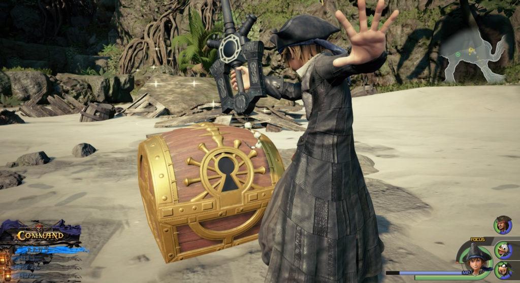 キングダムハーツ3(KH3)のワールド『ザ・カリビアン』で回収可能な宝物リスト(宝箱)のイメージ画像です。