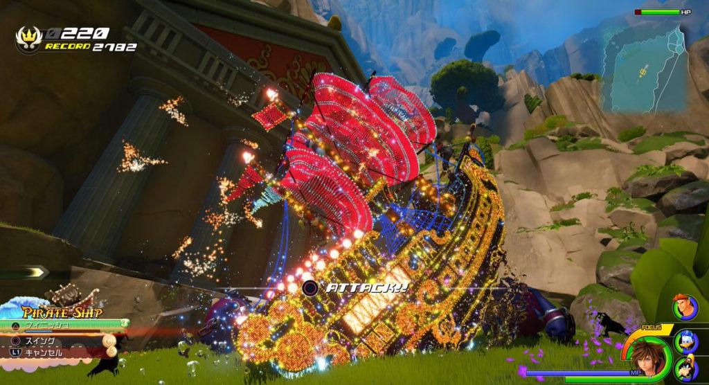 キングダムハーツ3(KH3)のプレイレコード『バトル』のイメージ画像です。