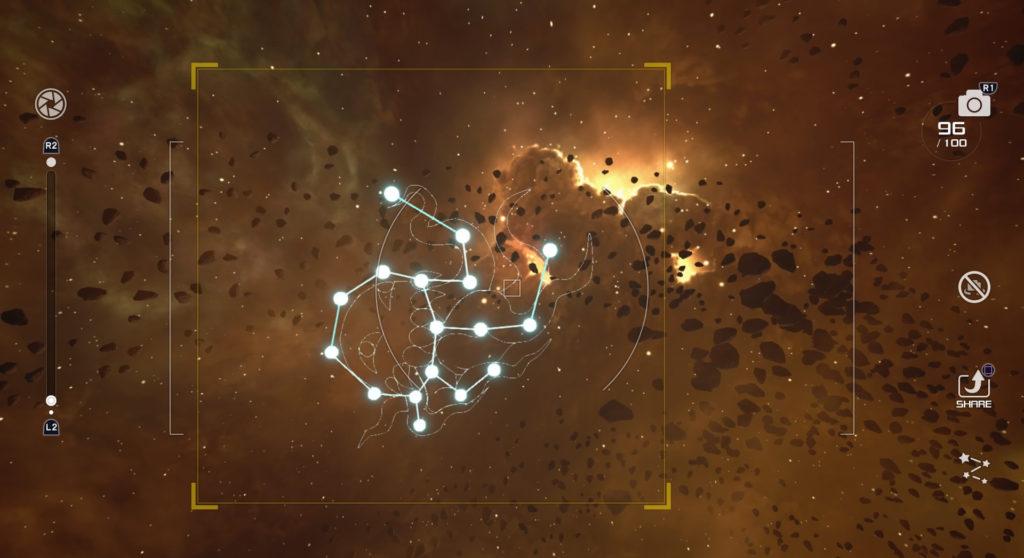 キングダムハーツ3(KH3)のジ・エクリプスで撮影可能な星座のオルトロス座です。