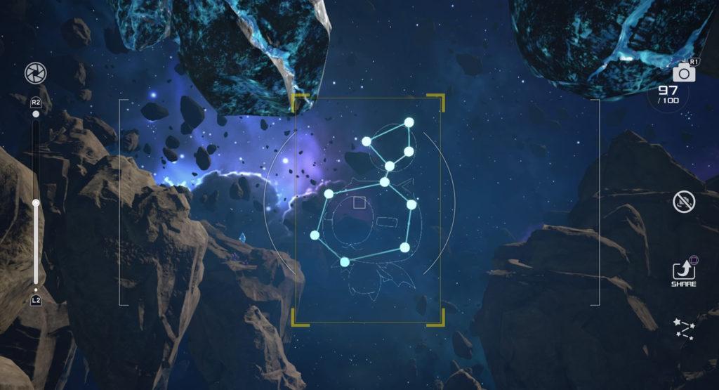 キングダムハーツ3(KH3)のスターライトウェイで撮影可能な星座のモーグリ座です。