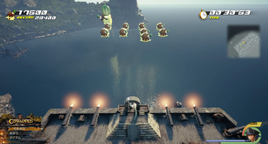 キングダムハーツ3(KH3)のセブンプリンズミッション『ウォーターメロンプリン』の攻略画像です。