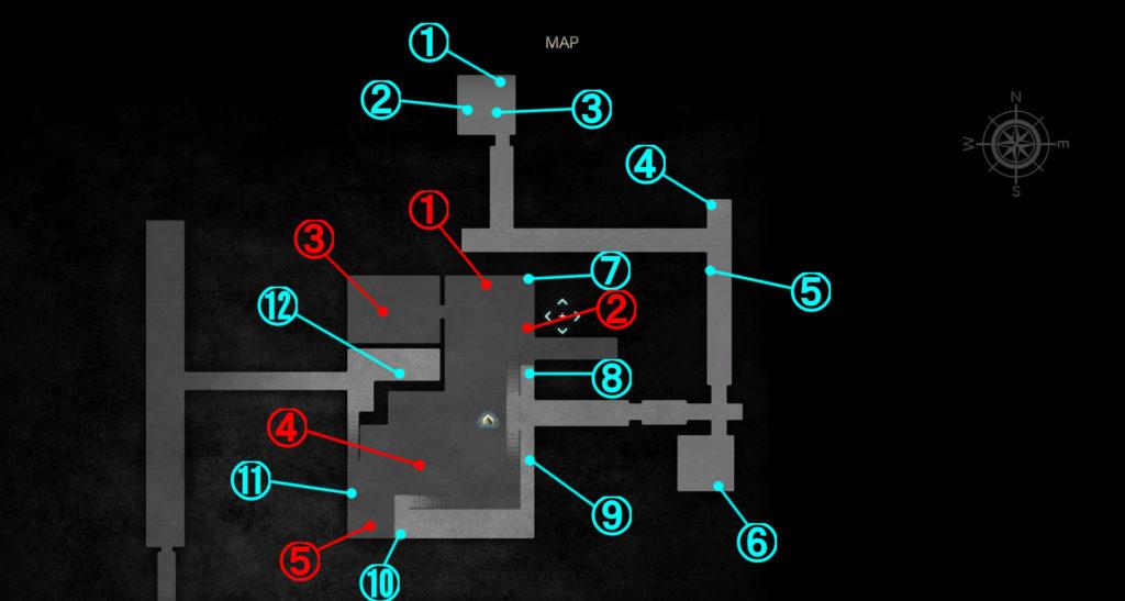 DLC『エピソードアーデン』の『研究所』に関する全体マップです。