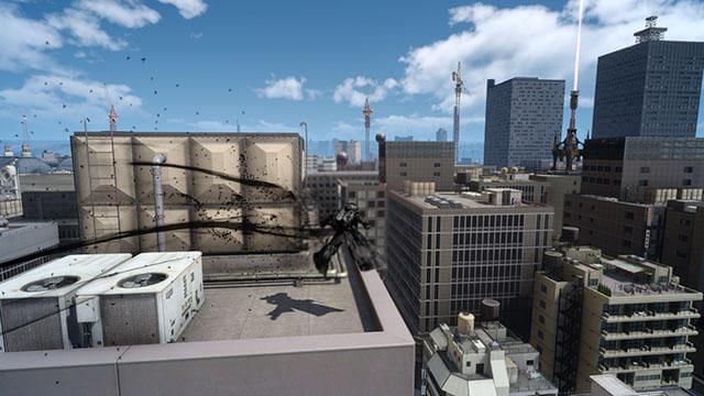 FF15のDLC『エピソードアーデン』で使用可能なアクション『シャドウムーブ』のイメージ画像です。