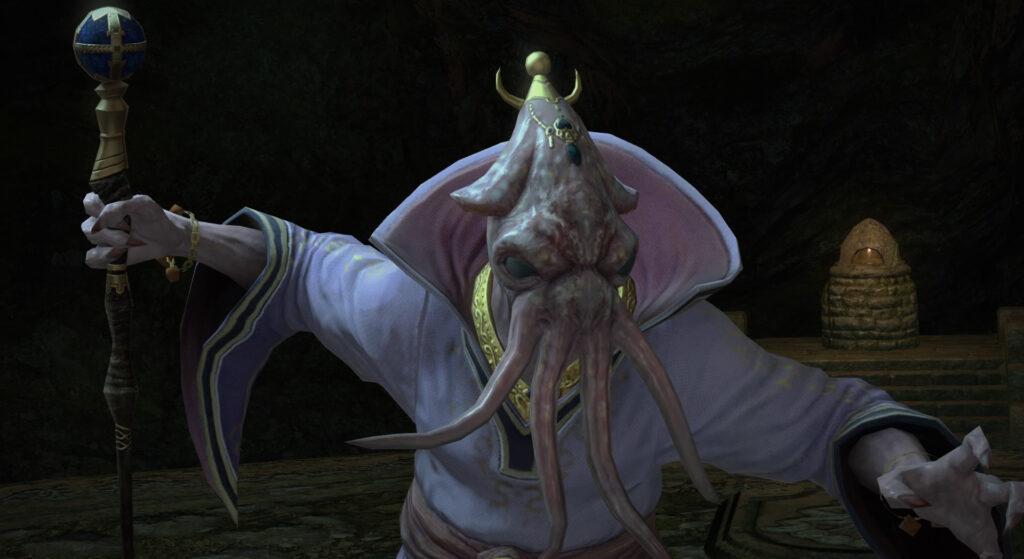 FF14のダンジョン『地下霊殿 タムタラの墓所』に出現するボス『絶対王ガルヴァンス』のイメージ画像です。