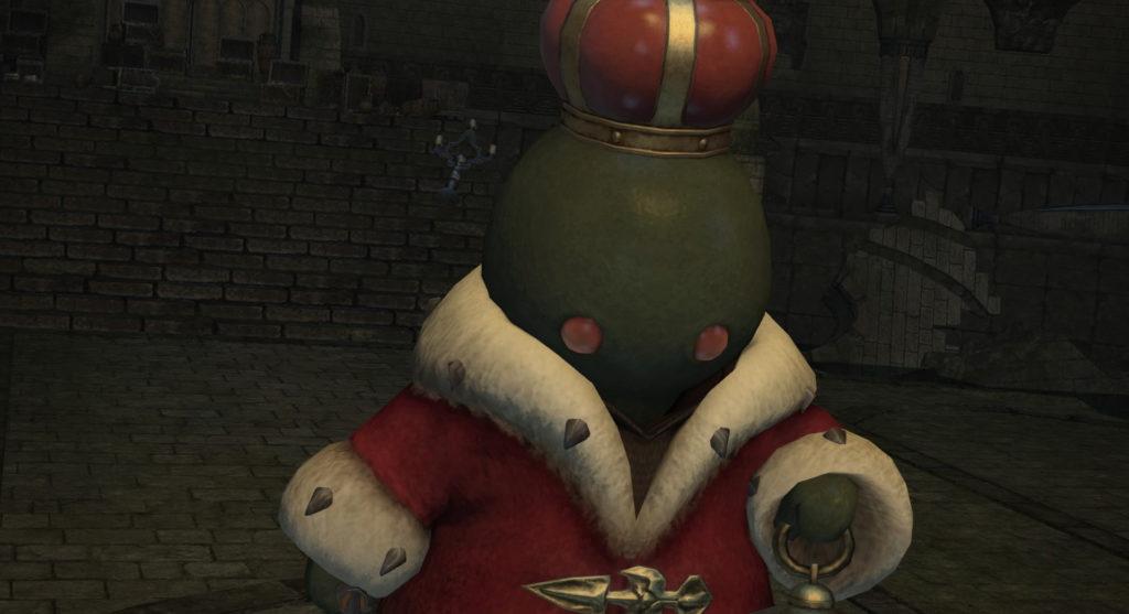 FF14のダンジョン『旅神聖域 ワンダラーパレス』に出現するボス『トンべリキング』のイメージ画像です。