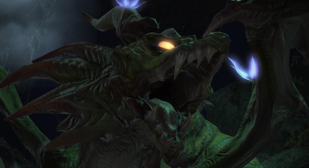 FF14のダンジョン『奪還支援 ブレイフロクスの野営地』に出現するボス『アイアタル』のイメージ画像です。
