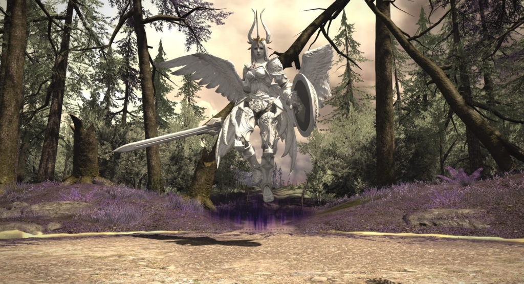 FF14の漆黒ヴィランズ(5.0)で追加されたダンジョン『殺戮郷村 ホルミンスター』に出現するボス『フォーギヴン・ディソナンス』のイメージ画像です。
