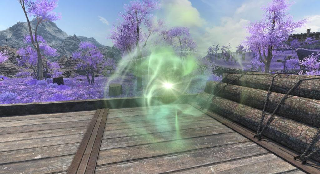 FF14の漆黒エリアで解放可能な風脈の泉のイメージ画像です。